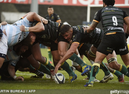 Calum Clark & Northampton. Martin Bureau / AFP, Getty Images.